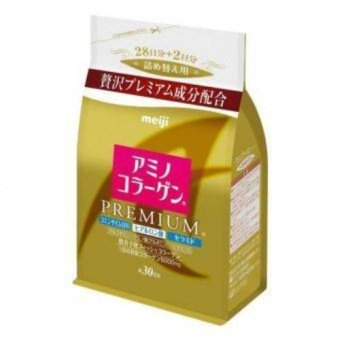 Meiji Amino Collagen Premium Powdered Drink Mix in Refill Pack 214g