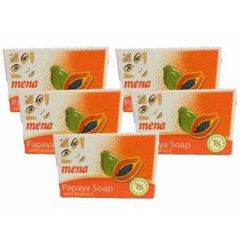 MENA PAPAYA W/ VITAMIN E SOAP 150G Set of 5pcs Price Philippines