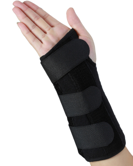 Metal Splint Adjustable Wrist Support Braces large, right hand -intl