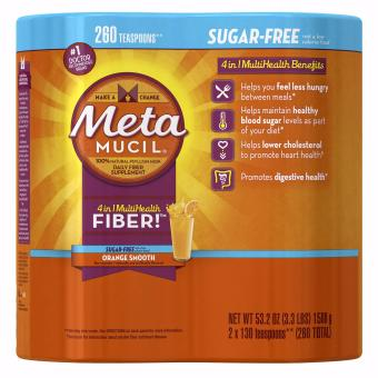 Metamucil Orange Smooth Sugar Free Multihealth Fiber (754 grams) -Pack of 2