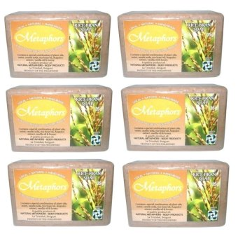 Metaphors Rice Bran Soap 135g Set of 6 - picture 2
