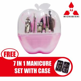 Microbishi Manicure Set 9 in 1 (Pink) with free Microbishi 7-in-1Manicure Set with Case best quality (DarkBrown)