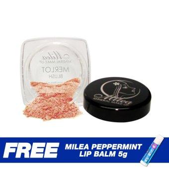 Milea Mineral Powder Blush 2g (Merlot) free Milea Peppermint Lip Balm