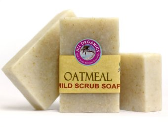 Milea Organic Oatmeal Mild Exfoliating Soap 100g Set of 3