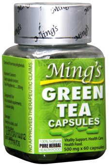 Ming's Green Tea 500mg Capsules Bottle of 60