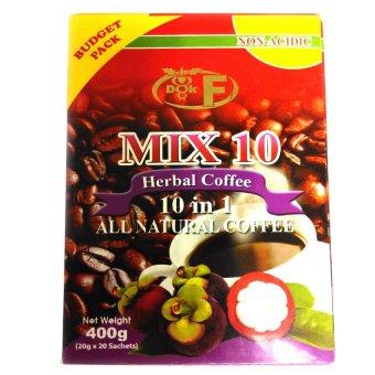 Mix 10 Herbal Coffee 400g Sachets Box of 20