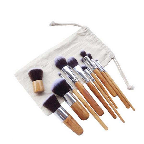 Moonar 11pcs/Set BAMBOO Portable Brushes Foundation Make-up Set | Lazada PH