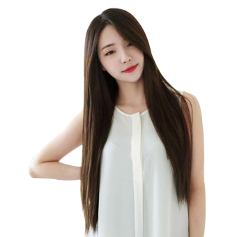 Moonar Women Long Straight Full Hair Wigs For Cosplay Costume Party (Dark Brown)