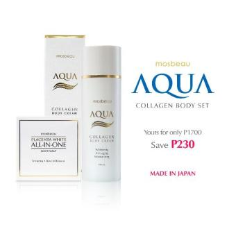 Mosbeau Aqua Collagen Body Cream with Placenta White All-In-OneBody Soap Beauty Set