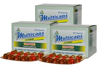 Multicaps Multivitamins 100 Capsules Set of 3