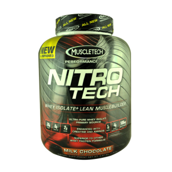 Muscletech NitrO Tech Whey Isolate + Lean Muscle Builder 3.97lbs (Milk Chocolate)