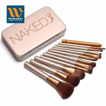 Naked3 12 pcs Professional 3 Power Makeup Brushes for Women #29399
