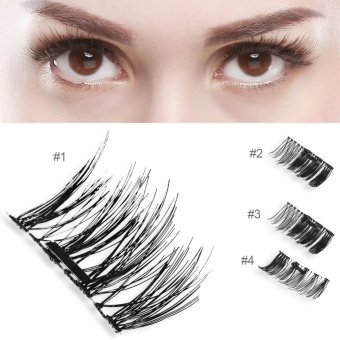 Natural 3D Magnetic Thick Eye Lashes Extension Makeup Tool #1 -intl