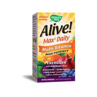 Nature's Way Alive Multi Vitamins Max Daily Soft Capsules Box of 90