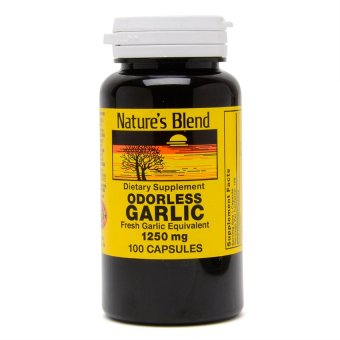 Nature's Blend Odorless Garlic 1250mg Capsules Bottle of 100