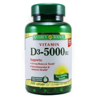 Nature's Bounty Vitamin D3-5000 IU, 300 Softgels Price Philippines