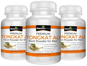 Nature's Kind Tongkat Ali Root Capsules Testosterone Booster andMost Potent Aphrodisiac Set of 3
