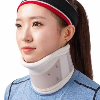 Neck Cervical Traction Collar Device Brace Support Hard Plastic forHeadache Neck Pain Hight Adjustable(XL) - intl Price Philippines