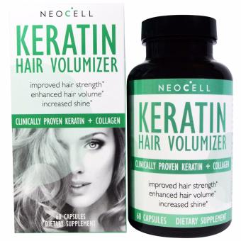 Neocell Keratin Hair Volumizer, Hair Grower and Thickener, 60 Capsules