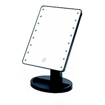 New 2017 Best Quality Bright Light Make Up Vanity IlluminatedDesktop Table Makeup Stand Mirror with 16 LED Light (Black)