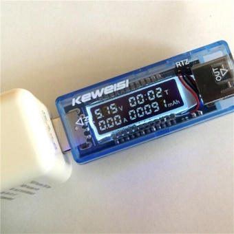 New KEWEISI 3V-9V 0-3A USB Charger Power Battery Capacity TesterVoltage Current Meter Blue - intl Price Philippines