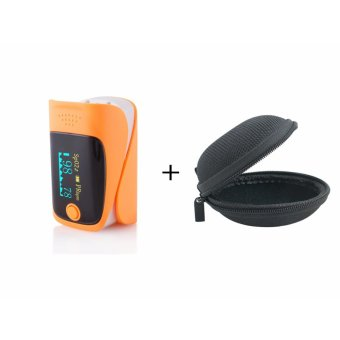 New Portable LED Finger Pulse Oximeter+Black Case - intl