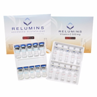 New Product! Relumins 1100 Glutathione IV 10 vials with Vitamin C +Free complete set materials for Skin whitening and Brightening Price Philippines