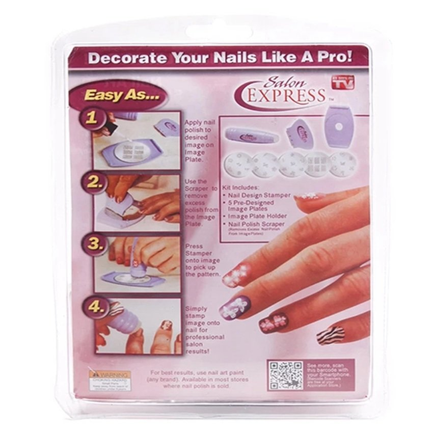 Philippines | New Salon Express Nail Art Stamping Kit Last Hot Deals