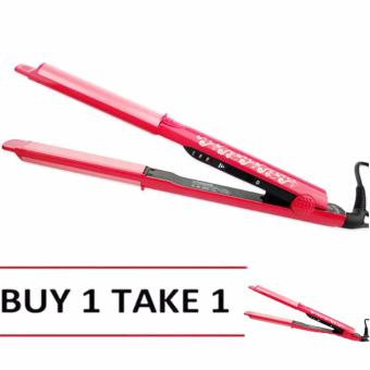 NHC-822 NOVA Professional Ceramic Hair Straightener (Pink) BUY 1TAKE 1