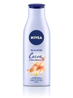 NIVEA Body Oil in Lotion Cocoa and Macadamia Oil