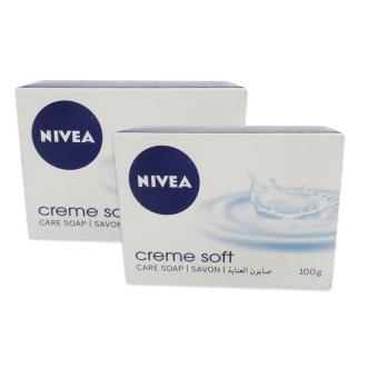 Nivea Creme Soft Care Soap 100g Set of 2 135318 W36