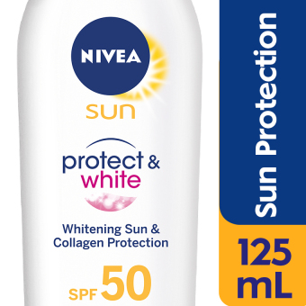 NIVEA Sun Protect and White Sun Protection Lotion SPF50 125ml