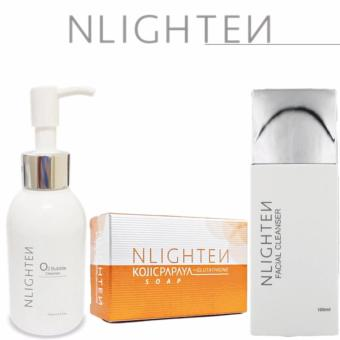 Nlighten Facial Cleanser Set (Nlighten Kojic, O2 Bubble, FacialCleanser)