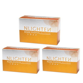 Nlighten Kojic Papaya with Glutathione Soap 135g Set of 3