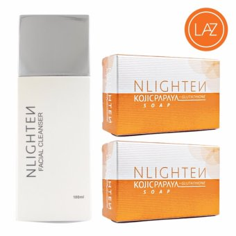 Nlighten Pimple Action Solution ( NLIGHTEN Facial Cleanser,NLIGHTEN Kojic Papaya Soap 2 )