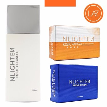 Nlighten Pimple Solution Set Recommended ( Nlighten Kojic PapayaSoap with Glutathione, Nlighten Facial Cleanser, Nlighten PremiumSoap )