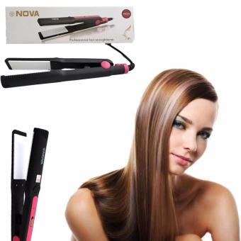 Nova NHC-325 Hair Straightening Iron (Black&Pink)