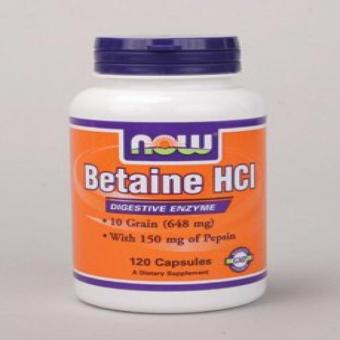 NOW Foods - Betaine HCl - 120 Capsules Price Philippines
