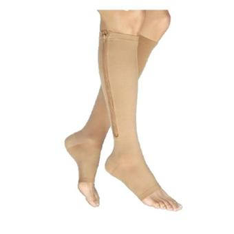 OEM Nude Zippered Compression Leg Knee Socks Price Philippines