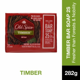 Old Spice Timber Bar Soap 5oz 2's Pack