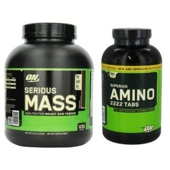 Optimum Nutrition Serious Mass Diet Supplement Chocolate 6lbs withAmino 2222 160 tablet Price Philippines