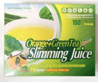 Orange+green tea slimming juice