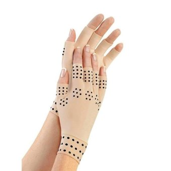Pair of Arthritis Compression Gloves With Magnets Anti-Arthritis Health Therapy Gloves - intl