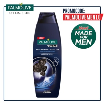 Palmolive Men Anti-Dandruff + Deep Clean Shampoo 170ml (Charcoal)