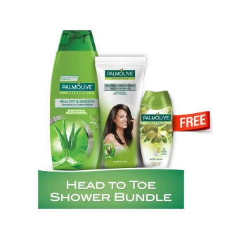 Palmolive Naturals Head to Toe Shower Bundle (Green)