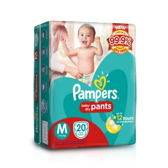 Pampers Pants Diaper Medium 20's Pack of 6