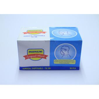 Pharmaline Surgical Mask Tie On 50's 1x1box