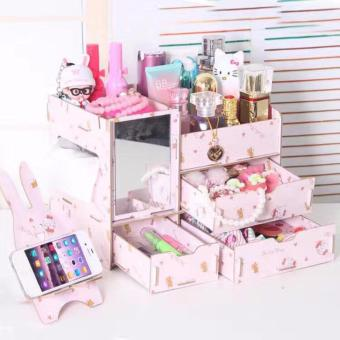 Phoebe's Wooden Diy Make Up organizer Box - HK (with cp holder)