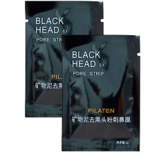 Pilaten Blackhead Remover Black Mud Deep Cleansing Purifying PeelAcne Face Mask Bundle of 2