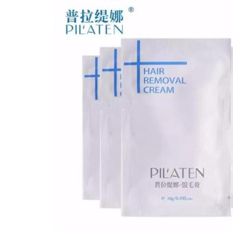 PILATEN Painless Depilatory Hair Removal Cream 10g (Set of 3)